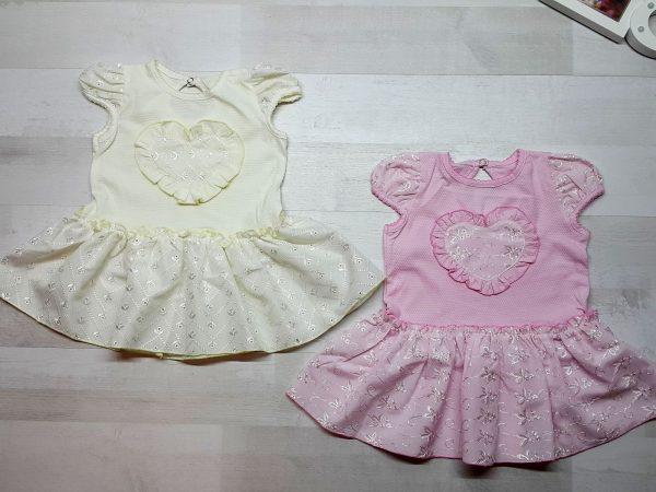 Платье с сердечком детское