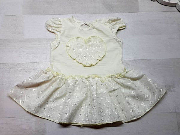 Платье с сердечком бежевое