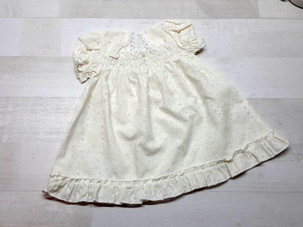 Платье-сорочка крестильное бежевое