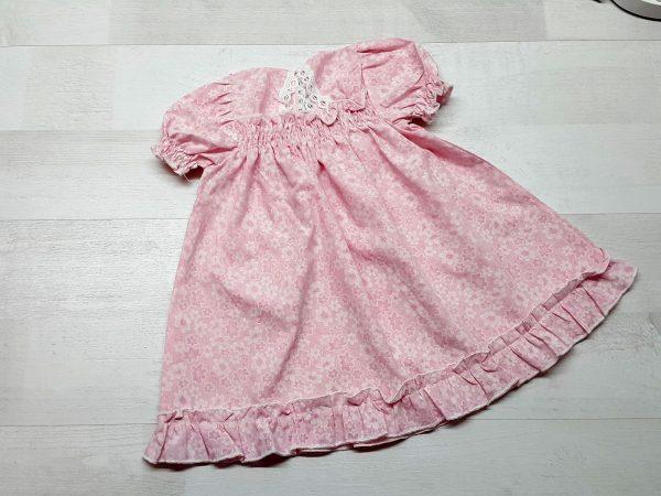 Платье-сорочка крестильное розовое