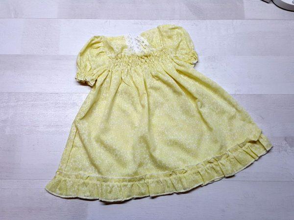 Платье-сорочка крестильное желтое