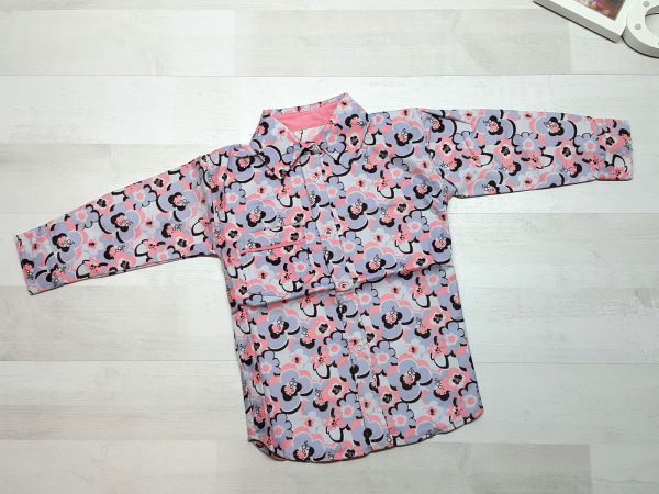 Рубашка для девочки с цветами