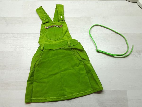 Сарафан из мягкого микровельвета зеленый