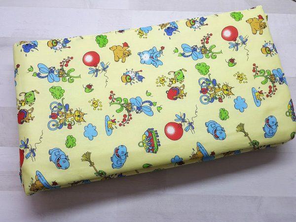 Набор в кроватку (7 предметов) желтый с шариками 1