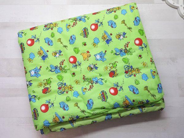 Набор в кроватку зеленый с шариками 1