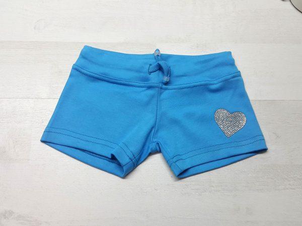 Шорты на девочку 2-7 лет голубые