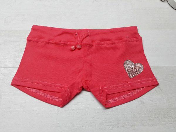 Шорты на девочку 2-7 лет красные