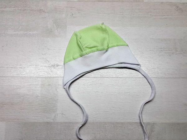Чепчик трикотажный однотонный зелёный