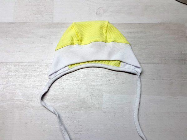 Чепчик трикотажный однотонный желтый