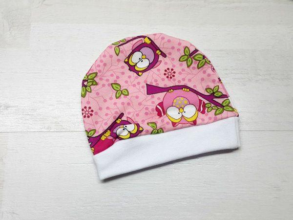 Шапочка для малышей тёплая розовая