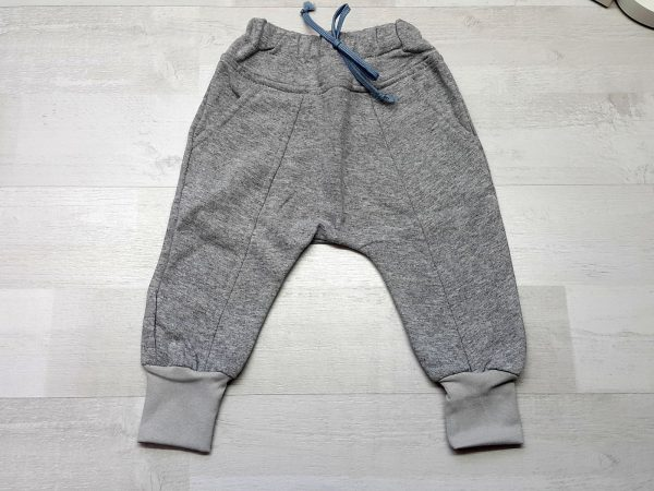 Штаны-багги тёплые на манжете серые