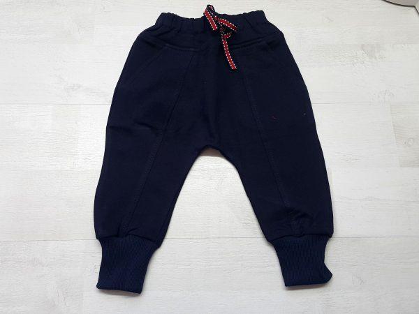 Штаны-багги тёплые на манжете синие