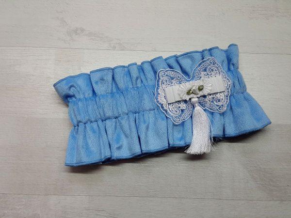 Эластичная резинка-фиксатор голубая