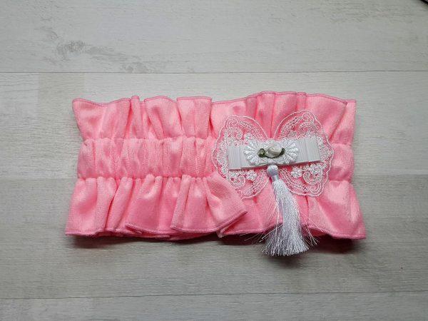 Эластичная резинка-фиксатор розовая