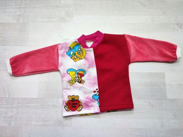 Кофта детская с длинным рукавом 62 красная