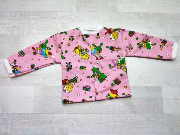 Кофта детская с длинным рукавом 62 розовая