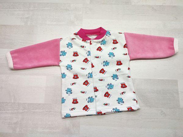 Кофта детская с длинным рукавом 68 розовая