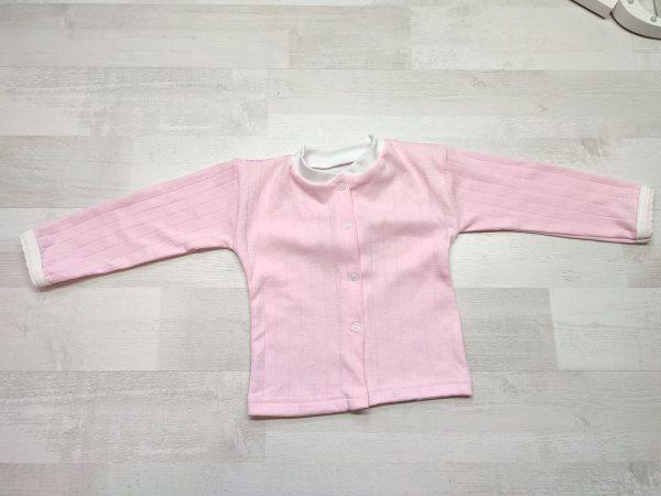 Кофта детская с длинным рукавом 74 розовая
