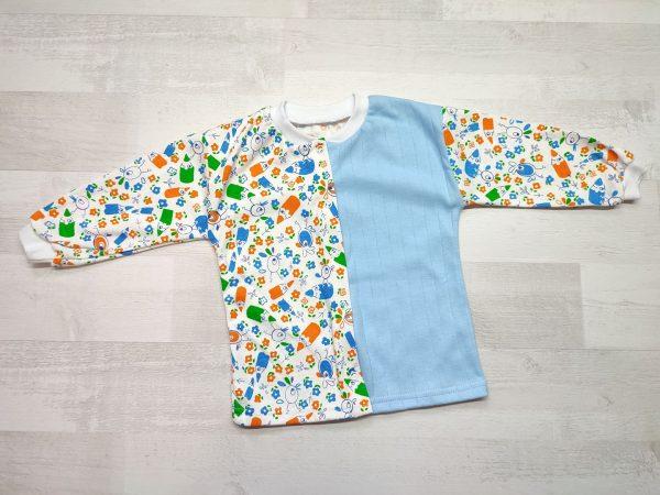 Кофта детская с длинным рукавом 80 голубая