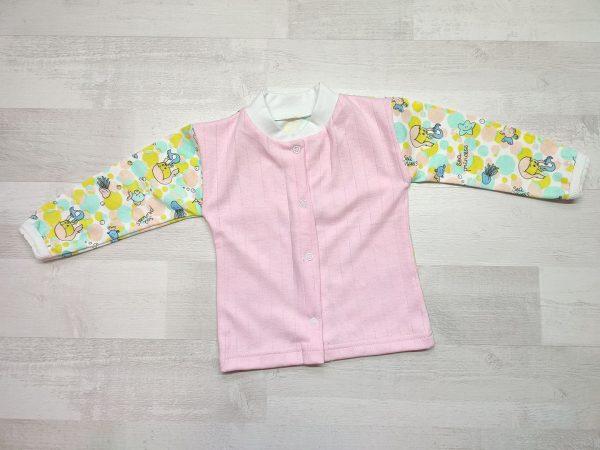 Кофта детская с длинным рукавом 80 розовая