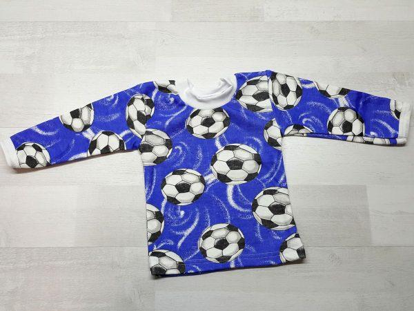 Кофта детская синяя с мячами
