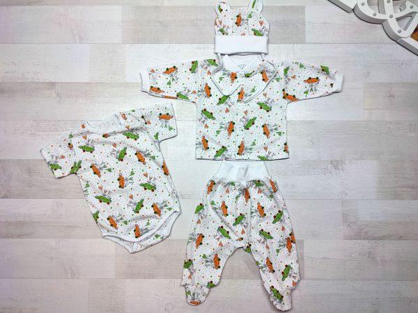 Комплект одежды для новорождённого морковки