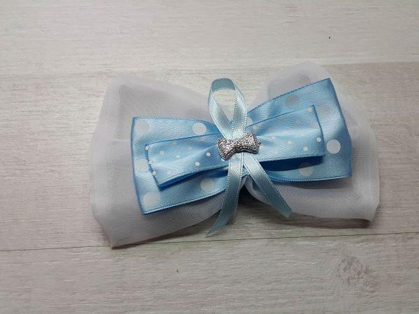 Лента для выписки малыша голубая