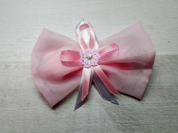 Лента для выписки малыша розовая