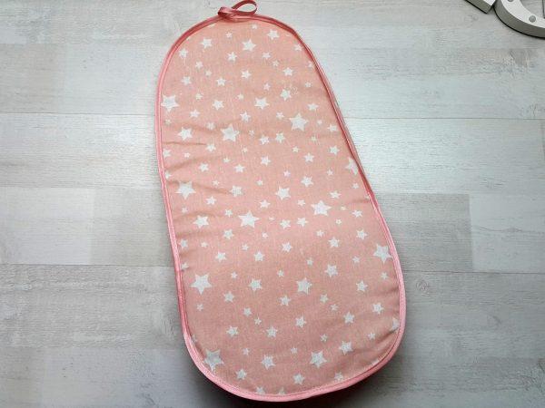 Лежак в ванночку розовый