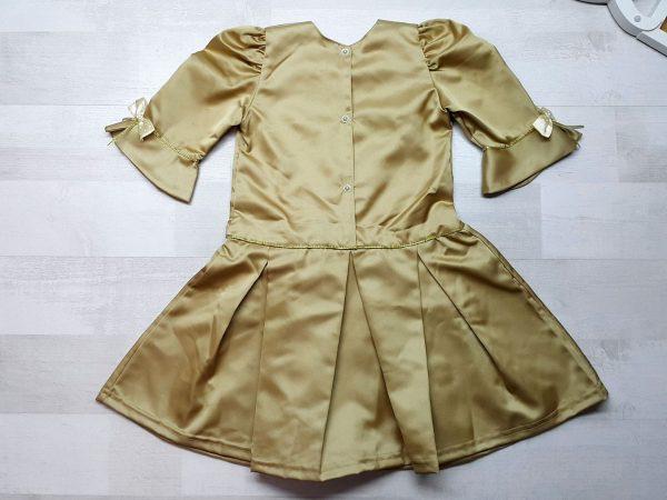 Платье песочно-золотистое 2