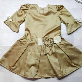 Платье песочно-золотистое