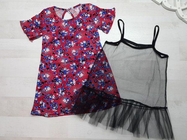 Платье с сеткой двойное 2
