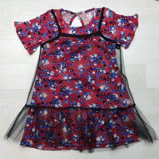 Платье с сеткой двойное
