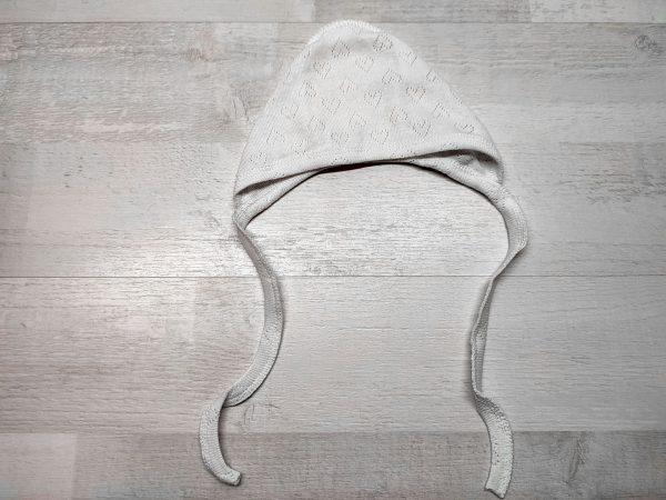 Чепчик ажурный белый