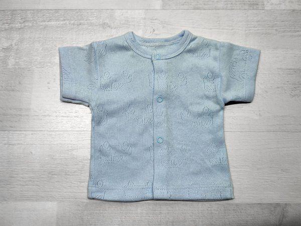 Кофта ажурная детская голубая