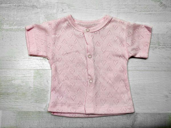 Кофта ажурная детская розовая
