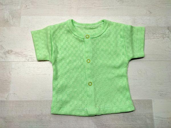 Кофта ажурная детская зелёная