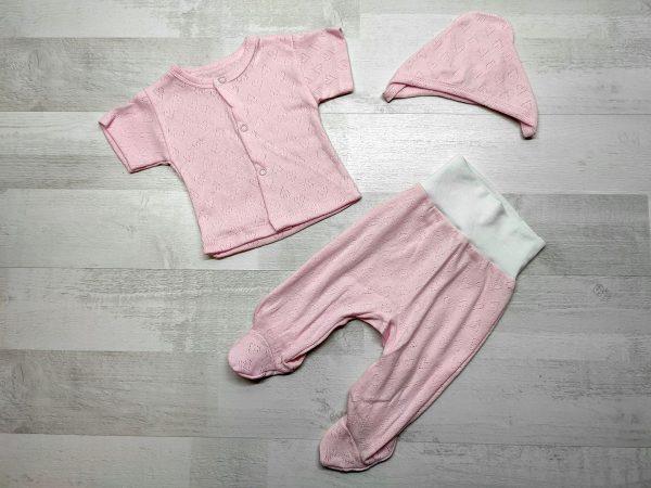Костюм ажурный детский розовый