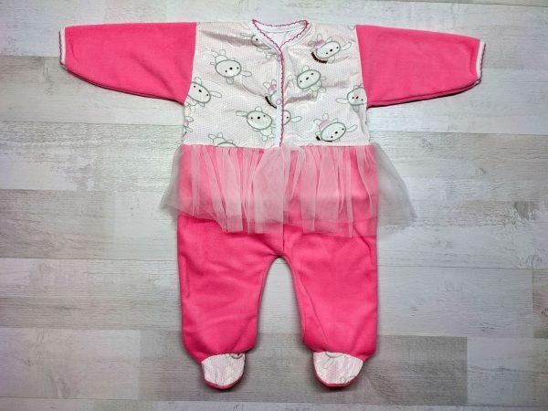 Комбинезон с юбкой детский розовый