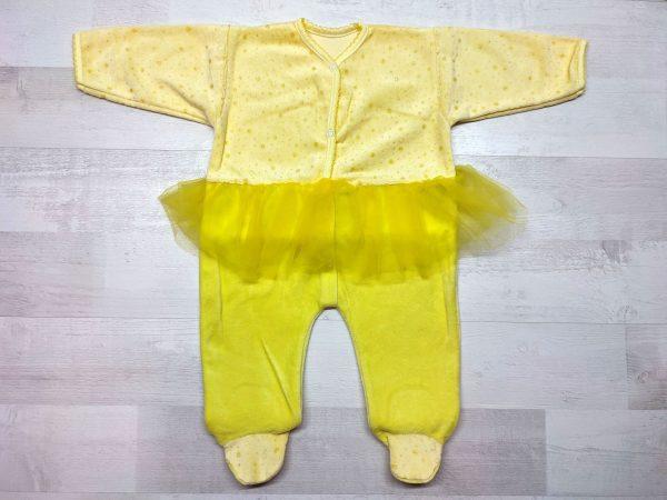 Комбинезон с юбкой детский желтый
