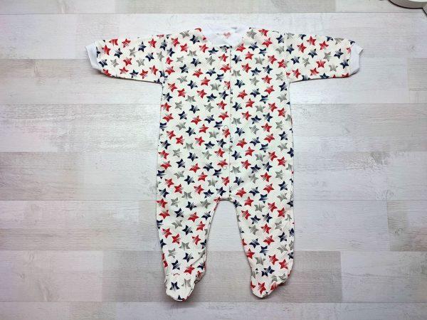 Комбинезон для новорожденного белоземелька красные звезды