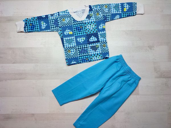 Пижама детская футер синяя